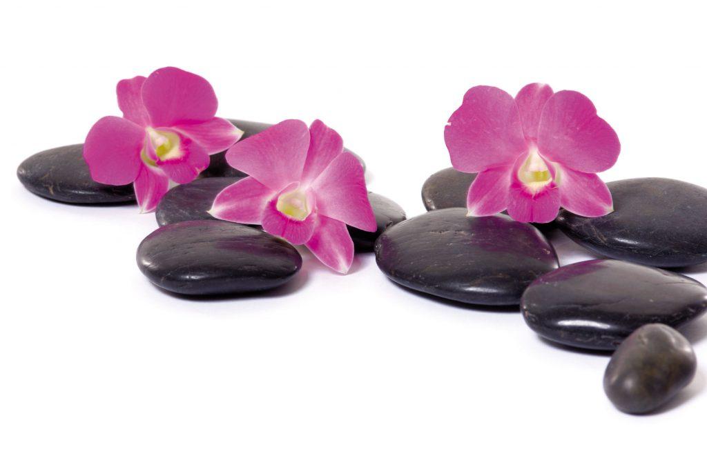 Steine Massage Blumen