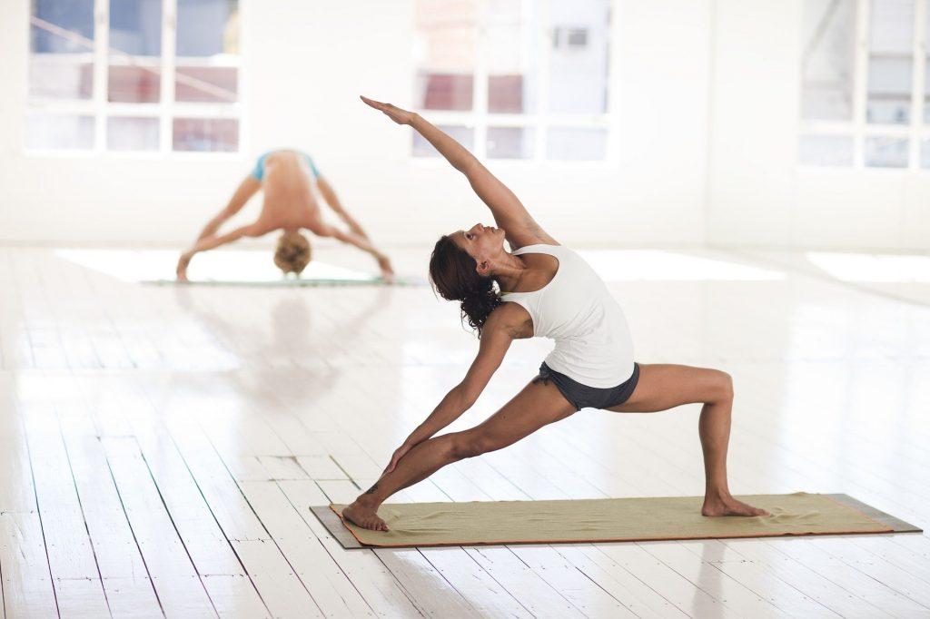 Yoga Frau Stretching Gesundheit Balance Ying Yang Sport